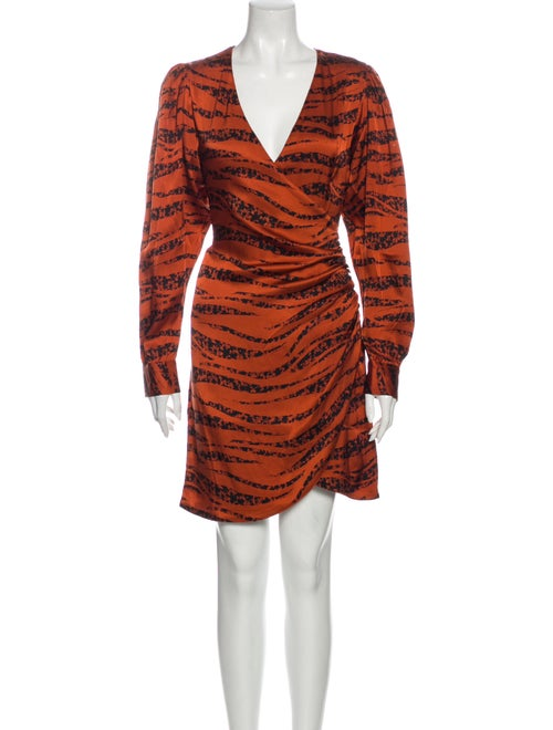 Anine Bing Silk Mini Dress w/ Tags Orange