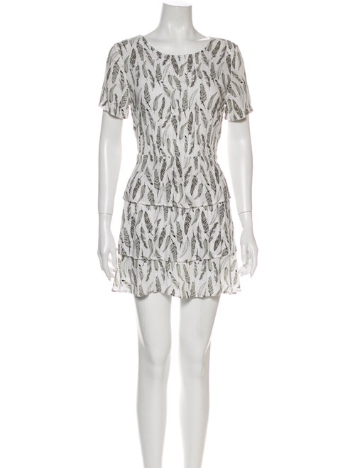 Anine Bing Printed Mini Dress Grey - image 1