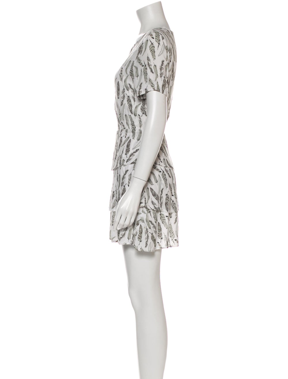 Anine Bing Printed Mini Dress Grey - image 2