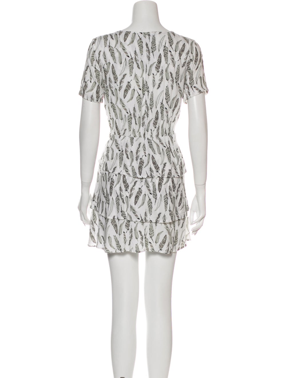 Anine Bing Printed Mini Dress Grey - image 3