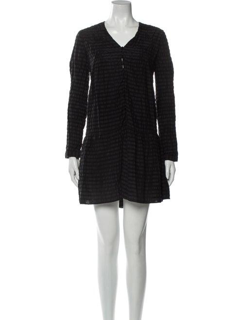 Anine Bing Silk Mini Dress Black
