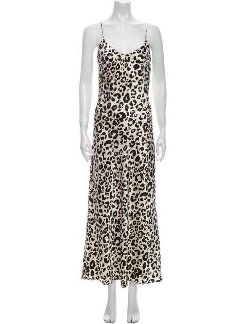 Anine Bing Silk Long Dress White