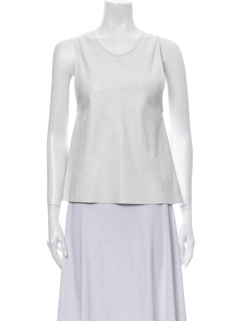 Anine Bing Scoop Neck Sleeveless Top White