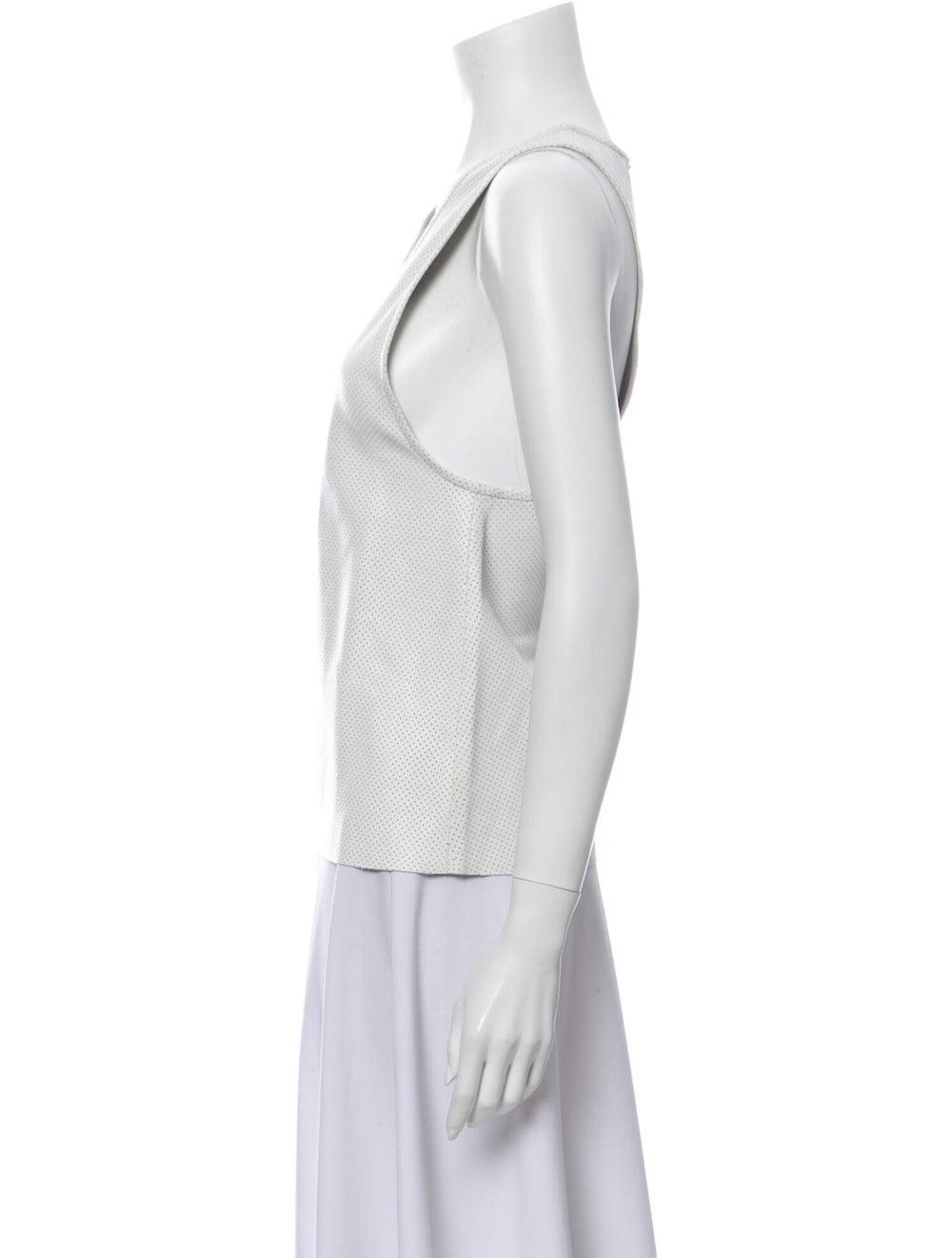 Anine Bing Scoop Neck Sleeveless Top White - image 2