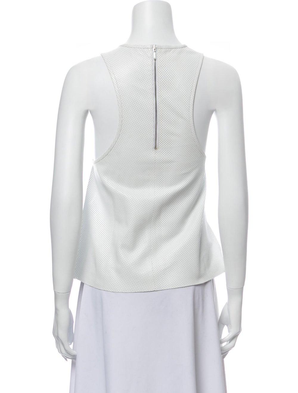 Anine Bing Scoop Neck Sleeveless Top White - image 3