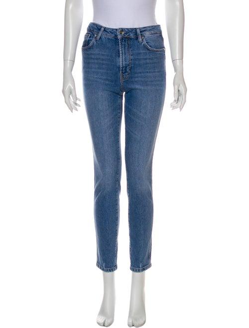 Anine Bing Mid-Rise Skinny Leg Jeans Blue