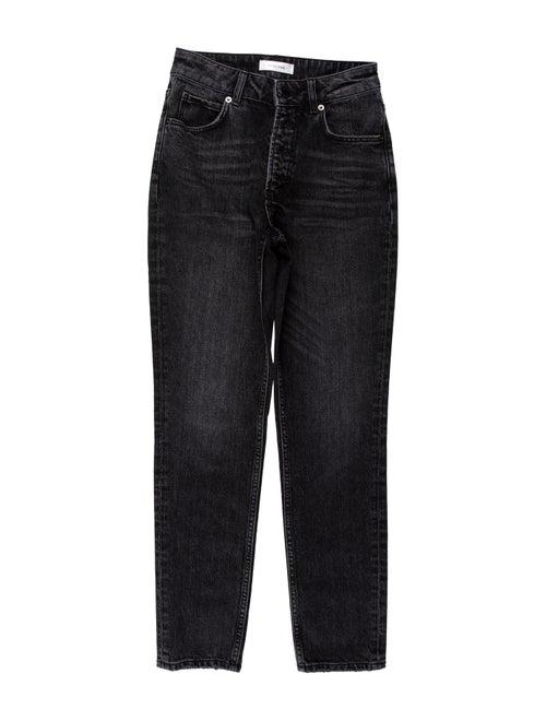 Anine Bing Mid-Rise Skinny Leg Jeans Black