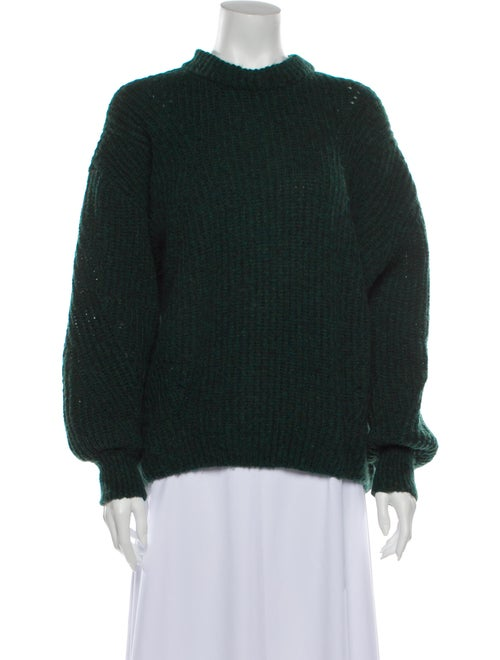 Anine Bing Mock Neck Sweater Green