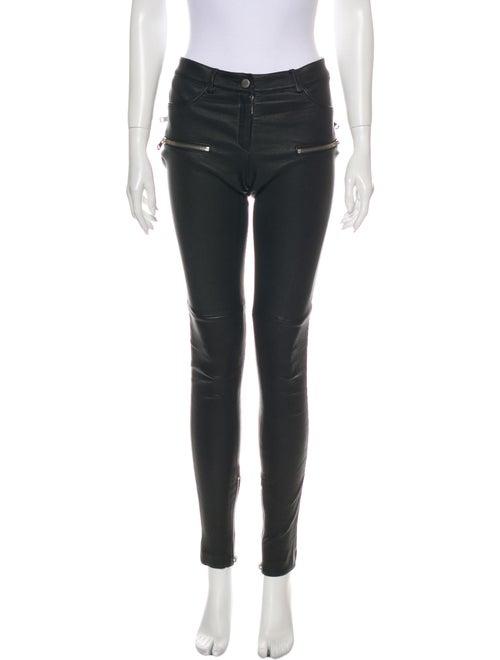 Anine Bing Leather Skinny Leg Pants Black