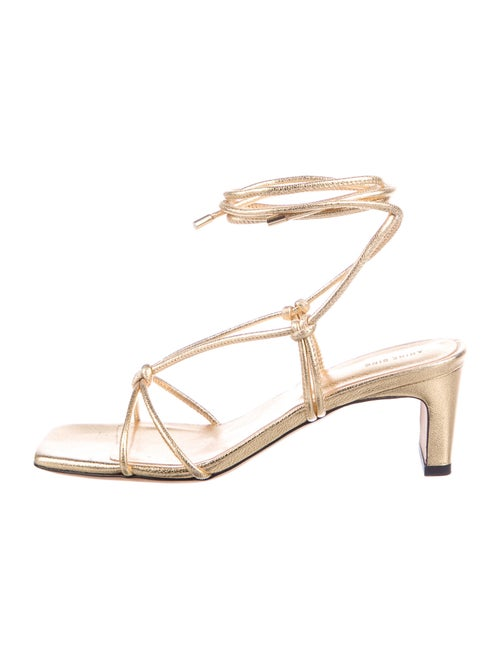 Anine Bing Leather Sandals Gold