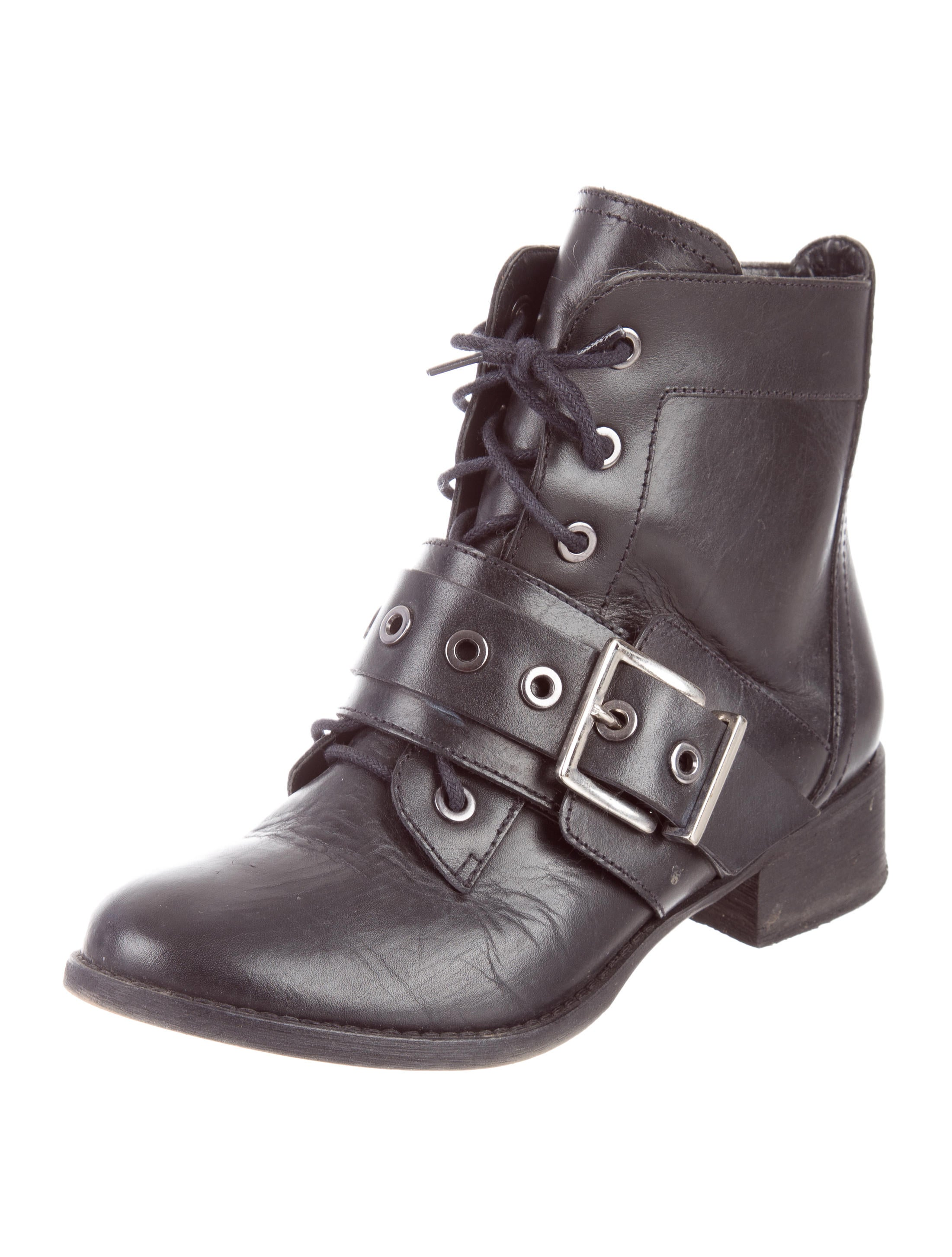schutz buckle ankle boots shoes w6s20360 the realreal