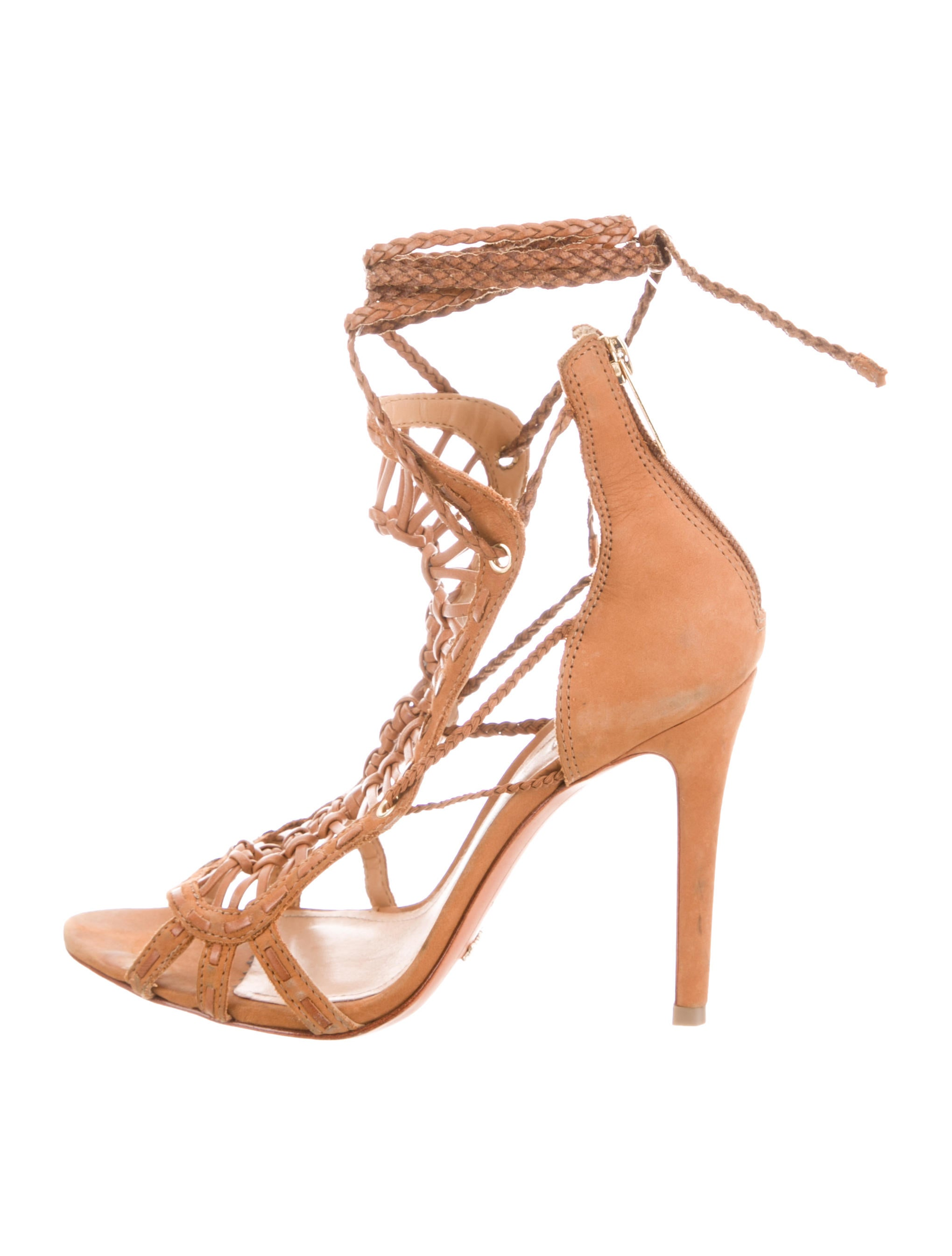 good selling cheap price Schutz Leather Wrap-Around Sandals clearance discount supply n1RJ9poRe