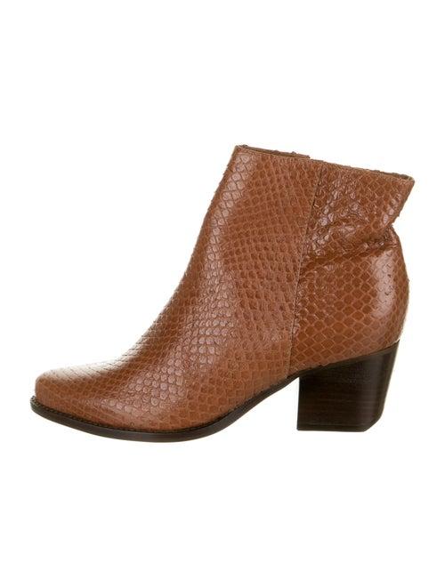 Schutz Snakeskin Boots Brown