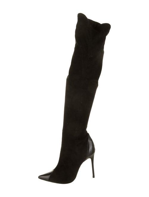 Schutz Suede Ankle Boots Black
