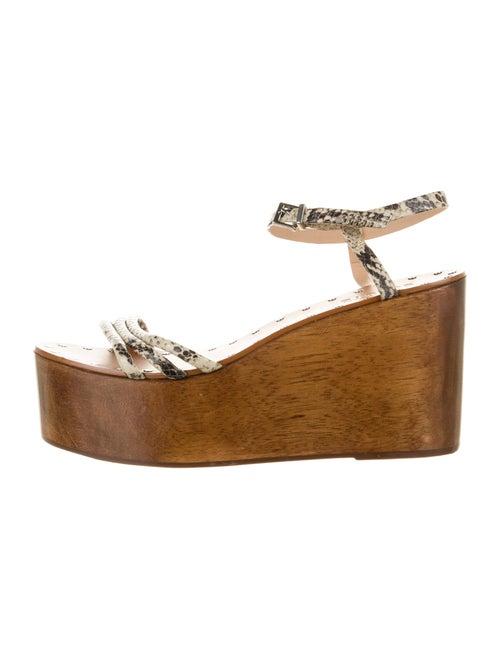 Schutz Snakeskin Animal Print Sandals
