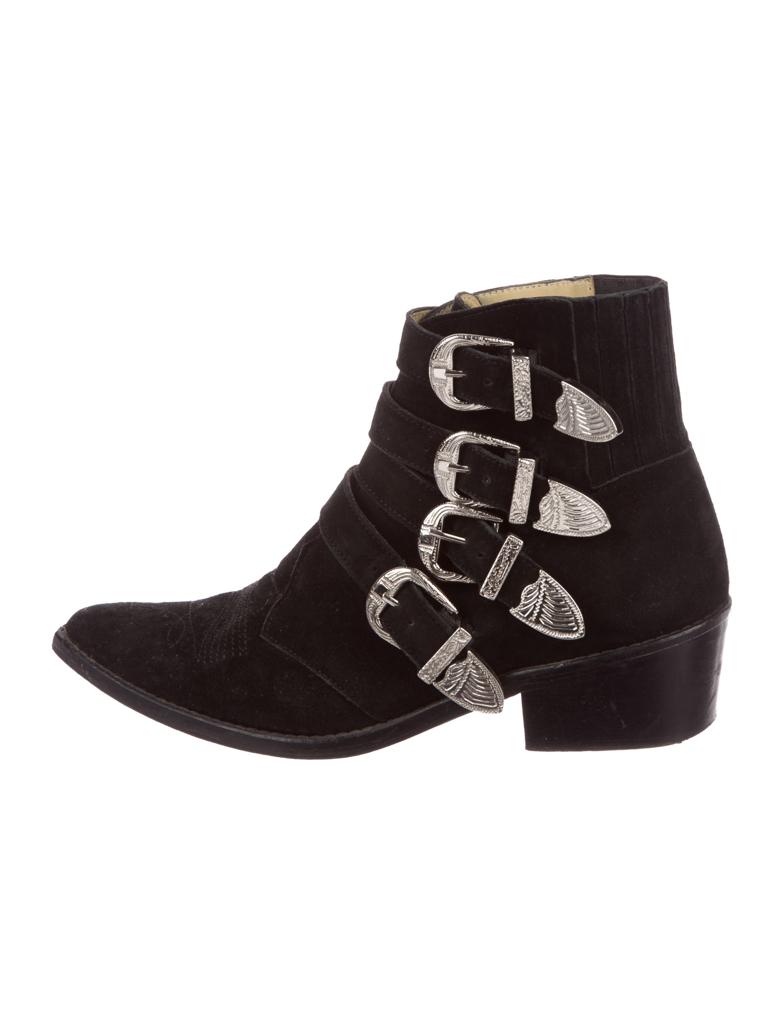 Toga Pulla Suede Multistrap Booties genuine cheap price discount perfect discount geniue stockist q4b6ZS