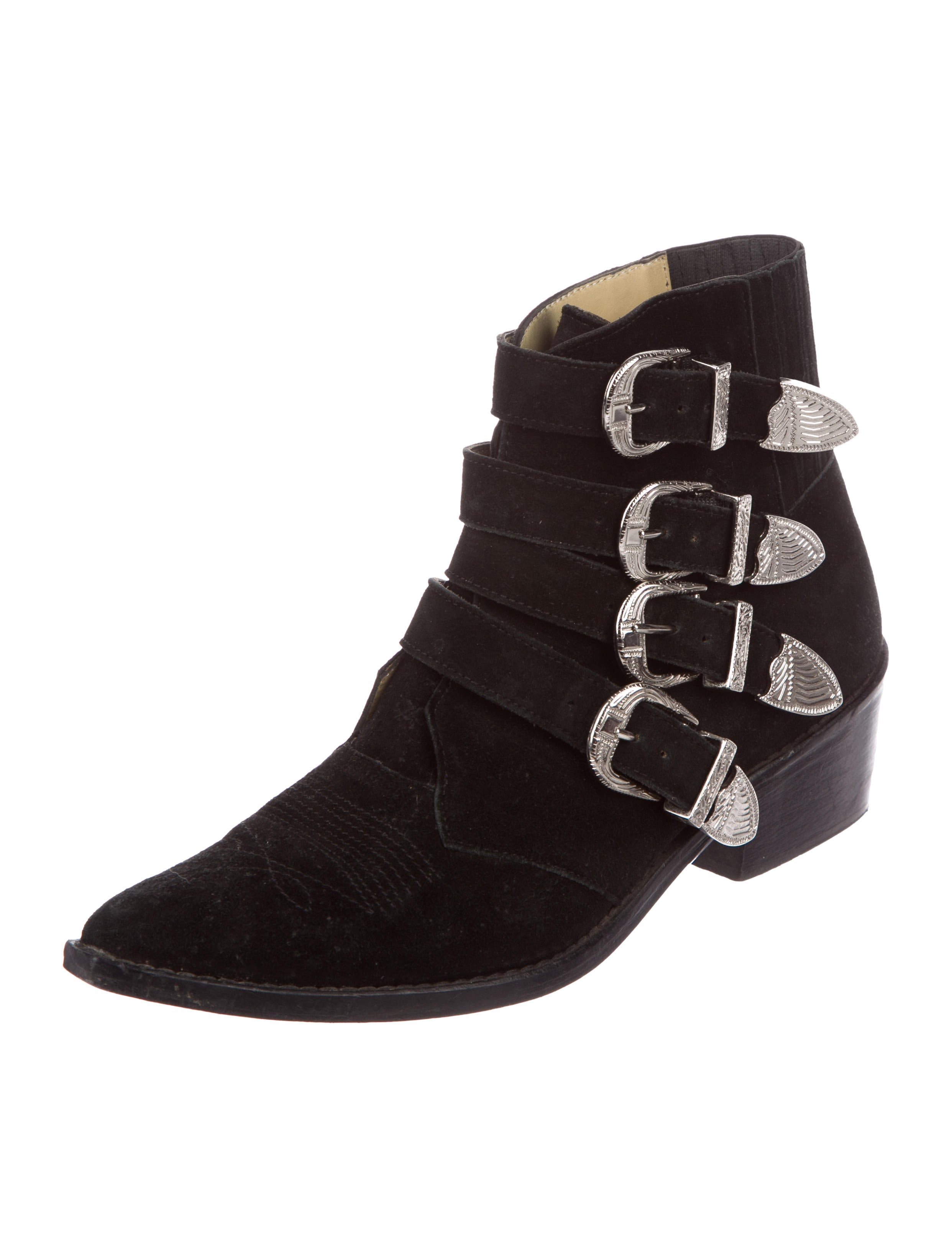 Toga Pulla Suede Multistrap Booties buy cheap professional view cheap online hot sale for sale mVoZAefwu5