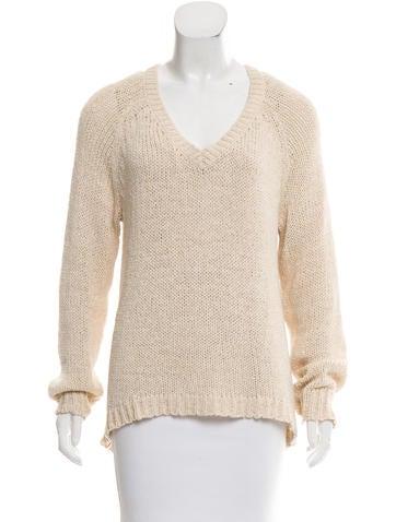 360 Rib Knit V-Neck Sweater None