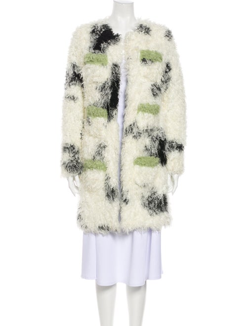 Shrimps Printed Faux Fur Coat