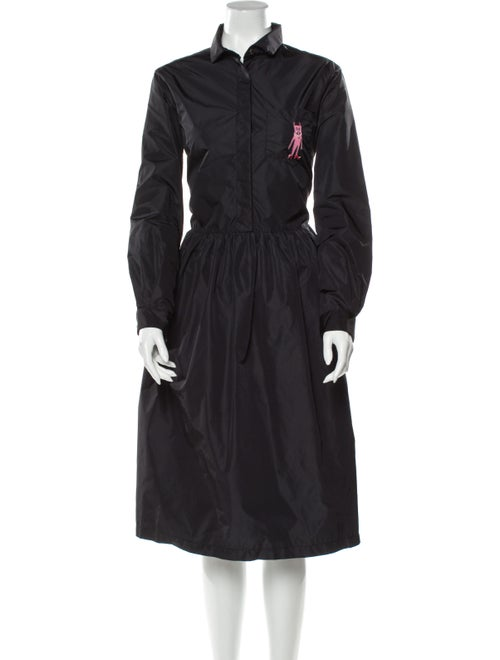 Shrimps Midi Length Dress Black