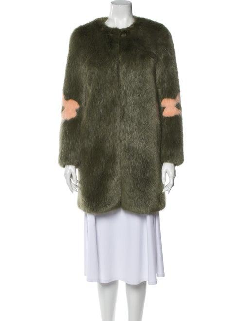 Shrimps Faux Fur Coat Green - image 1