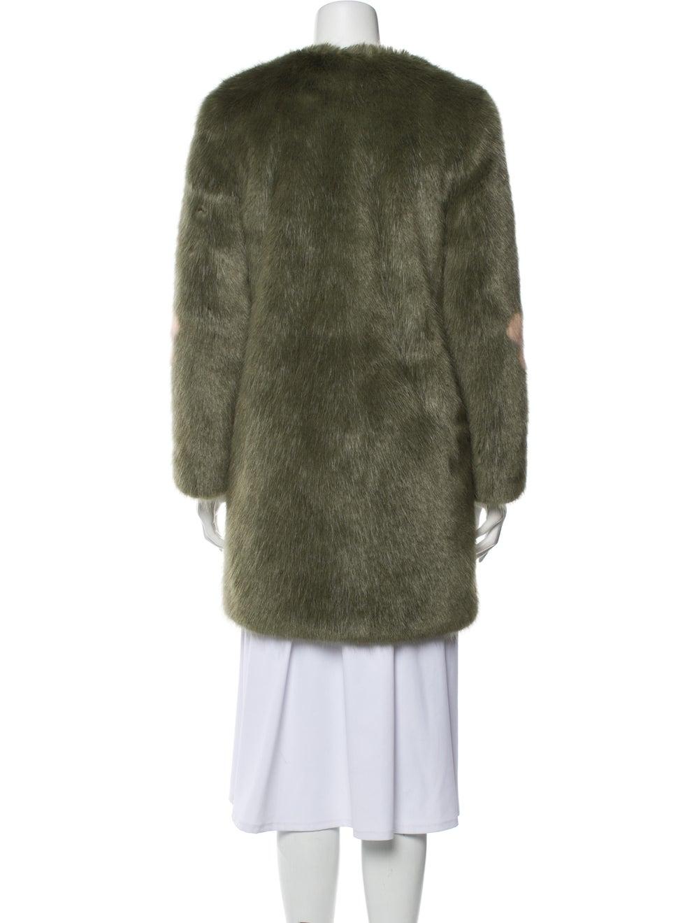 Shrimps Faux Fur Coat Green - image 3