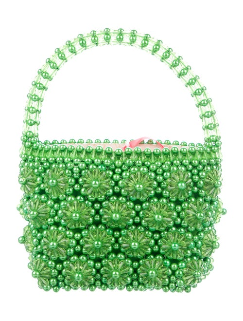 Shrimps Beaded Handle Bag w/ Tags Green