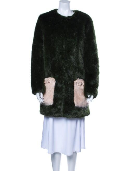 Shrimps Faux Fur Coat Green