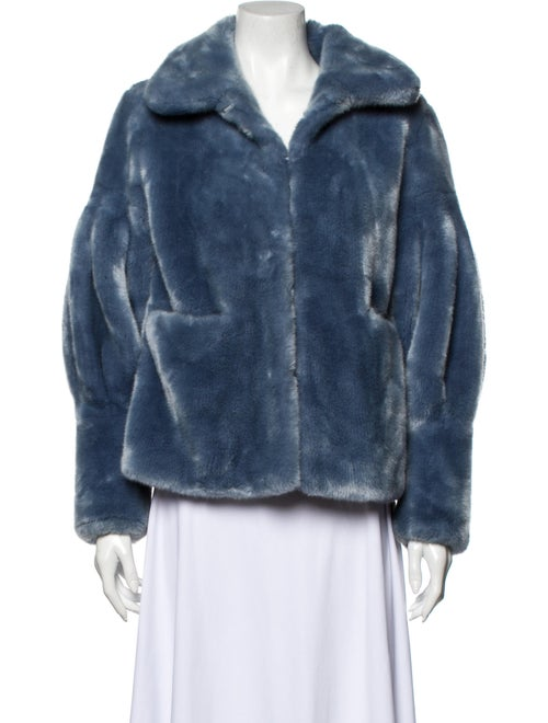 Shrimps Faux Fur Jacket Blue
