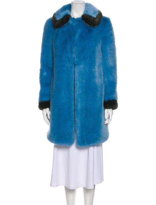 Shrimps Faux Fur Coat Blue