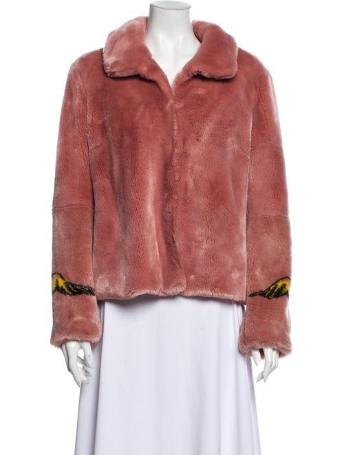 Shrimps Faux Fur Coat Pink