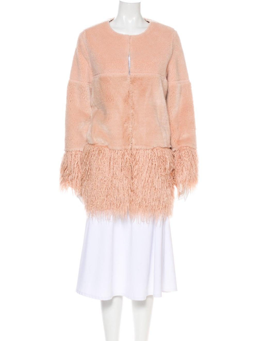 Shrimps Faux Fur Coat Pink - image 1