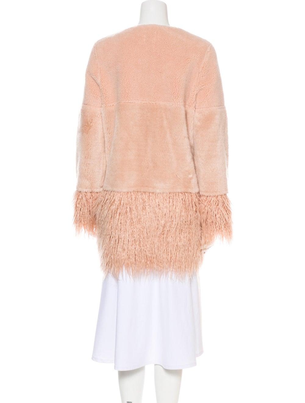 Shrimps Faux Fur Coat Pink - image 3