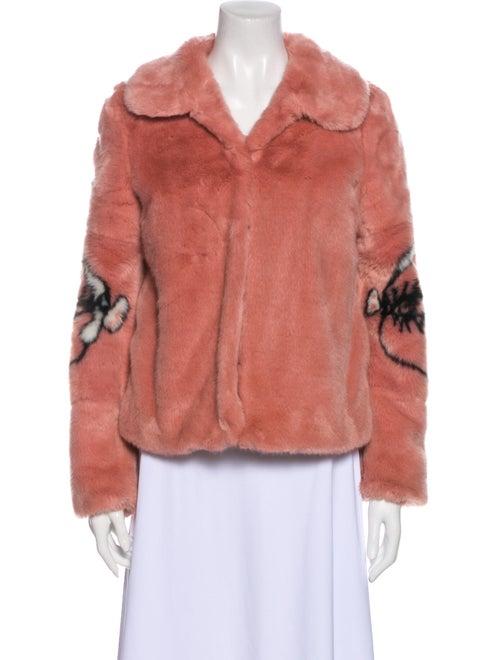 Shrimps Faux Fur Jacket Pink