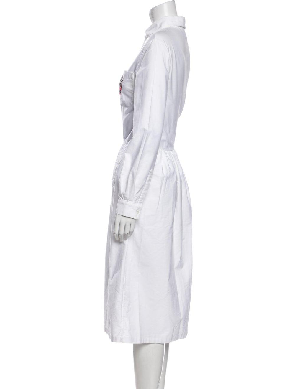 Shrimps Mock Neck Midi Length Dress White - image 2