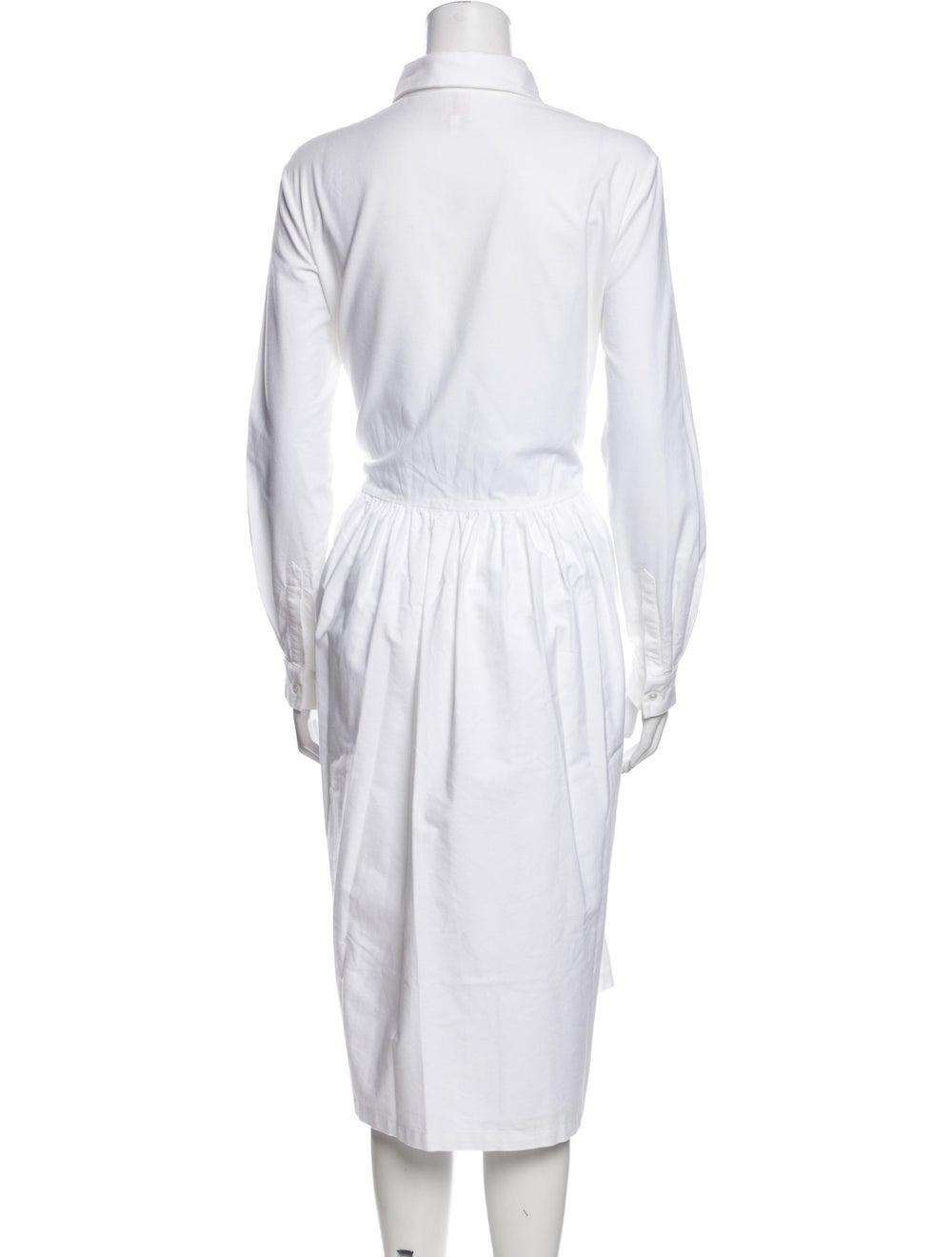 Shrimps Mock Neck Midi Length Dress White - image 3