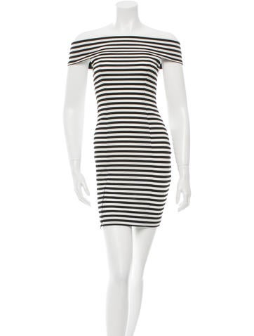 Striped Off-The-Shoulder Dress w/ Tags