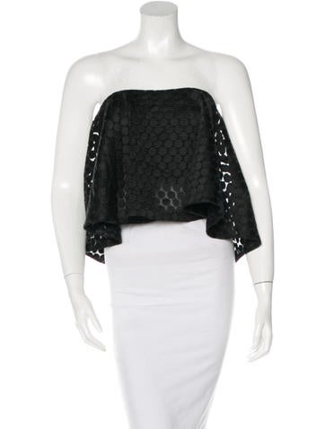 Nicholas Embroidered Crop Top None