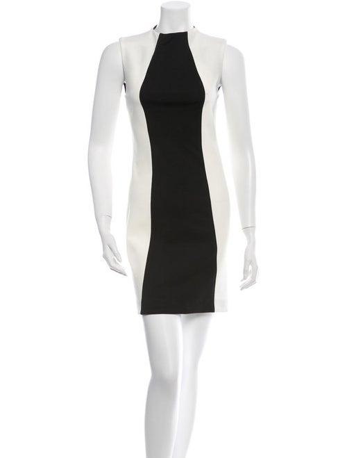 Nicholas Sleeveless Bicolor Dress white