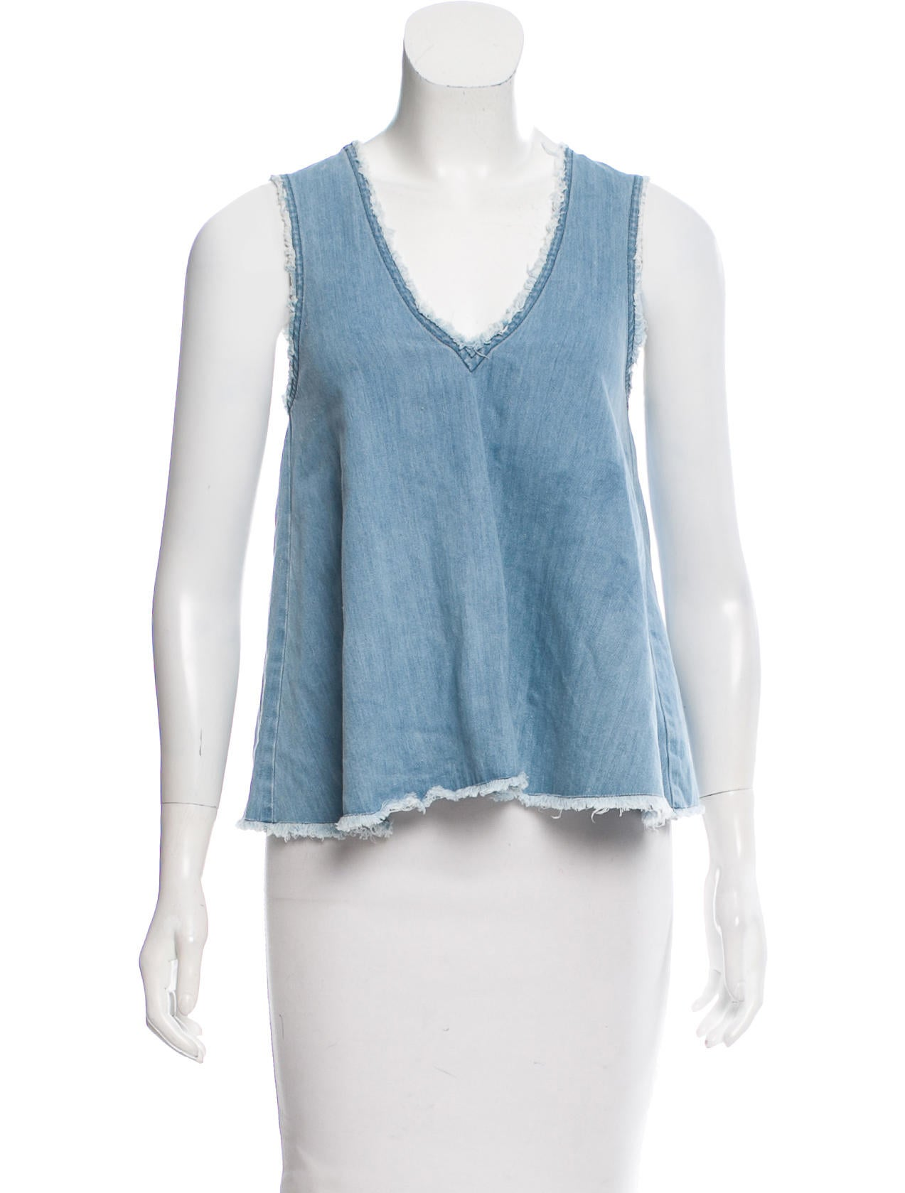 Nicholas sleeveless chambray top clothing w7721043 for Chambray top
