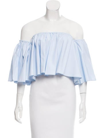 Nicholas Off-The-Shoulder Crop Top None