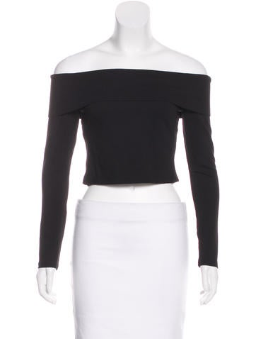 Nicholas Long Sleeve Off-The-Shoulder Top None