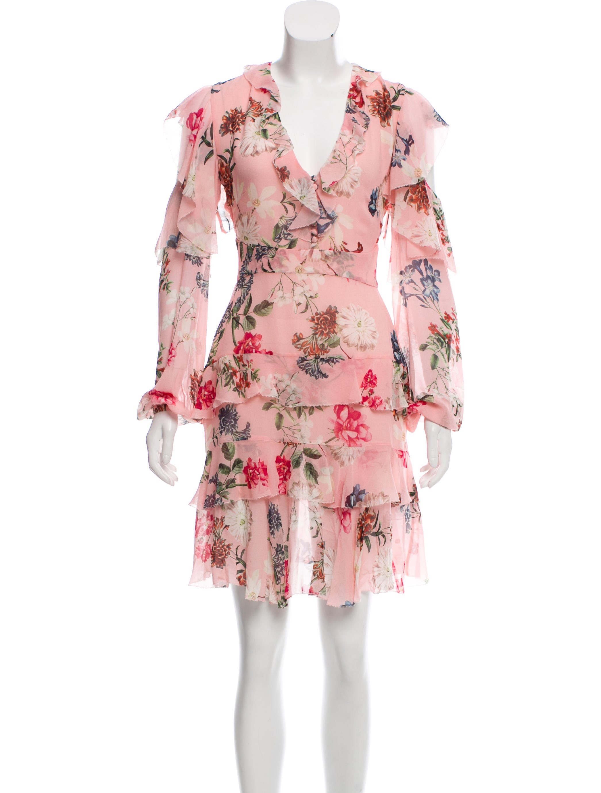 Nicholas Long Sleeve Silk Floral Dress Clothing W7722266 The