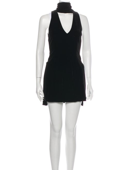 Nicholas Turtleneck Mini Dress Black