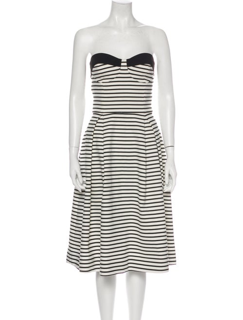 Nicholas Striped Mini Dress White