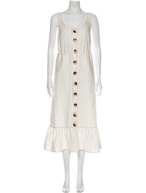 Nicholas Linen Long Dress White