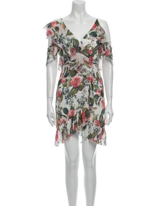 Nicholas Silk Mini Dress White