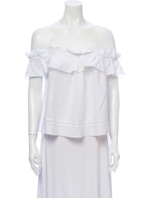 Nicholas Off-The-Shoulder Short Sleeve Blouse Whit
