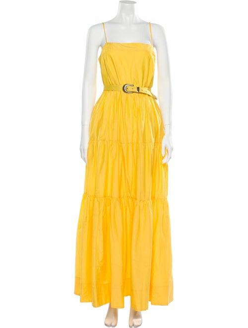 Nicholas Square Neckline Long Dress w/ Tags Yellow