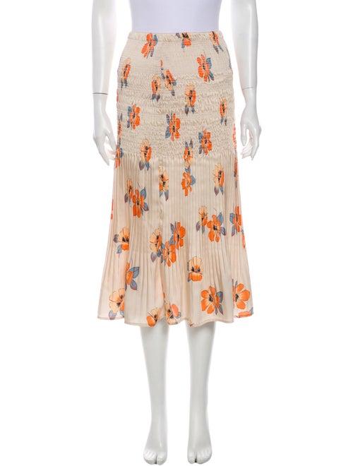 Nicholas Floral Print Midi Length Skirt
